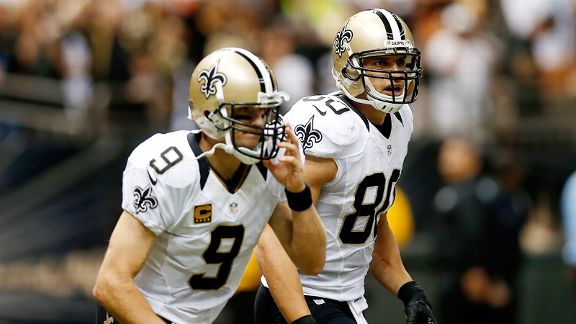Jimmy Graham and Drew Brees