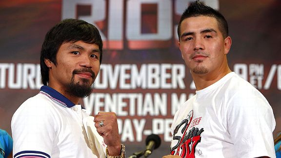 Manny Pacquiao and Brandon Rios