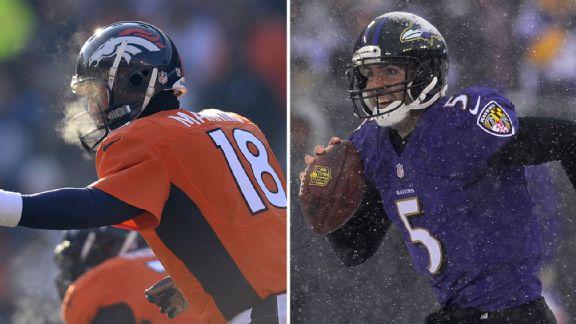 Peyton Manning, Joe Flacco