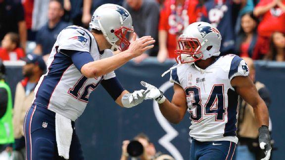 Tom Brady and Shane Vereen