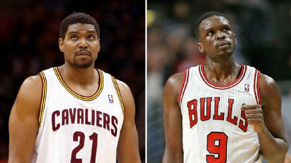 Andrew Bynum and Loul Deng