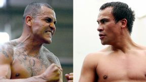 Mike Alvarado and Juan Manuel Marquez