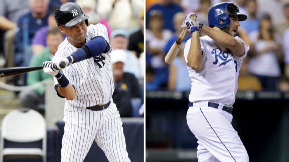 Derek Jeter, Mike Moustakas
