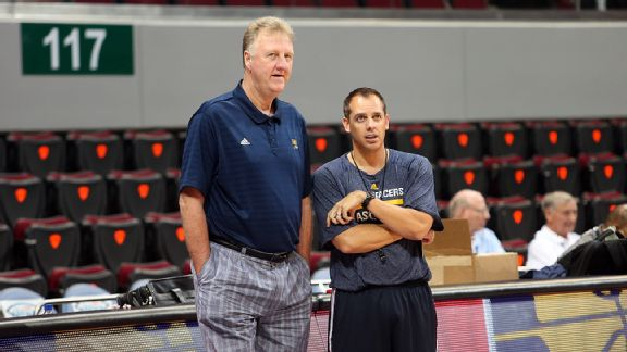 Larry Bird y Frank Vogel