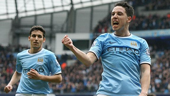 Manchester City's French midfielder Samir Nasri