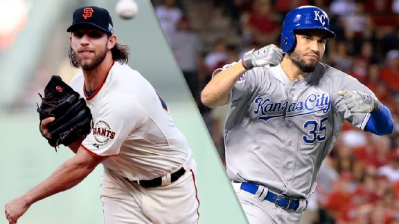 Madison Bumgarner and Eric Hosmer