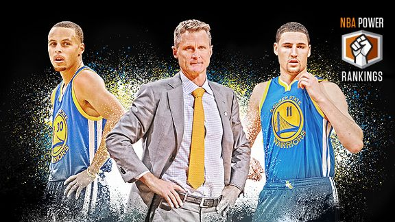 Stephen Curry, Steve Kerr & Klay Thompson