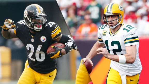 Le'Veon Bell and Aaron Rodgers