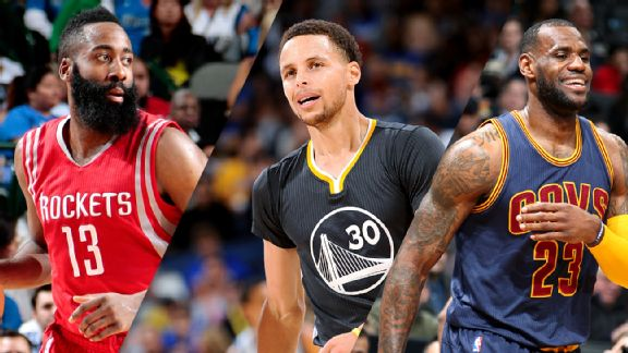 Harden, Curry, James
