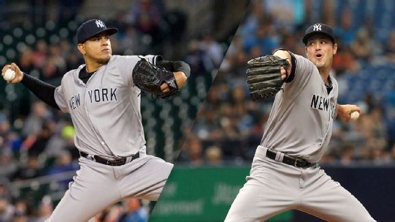 Dellin Betances and Andrew Miller