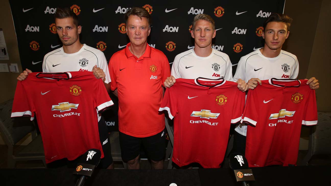 How will Louis van Gaal organize Manchester United's ideal midfield?
