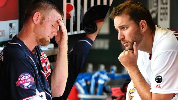 Stephen Strasburg and Adam Wainwright