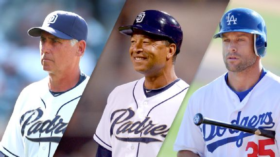 Bud Black, Dave Roberts and Gabe Kapler