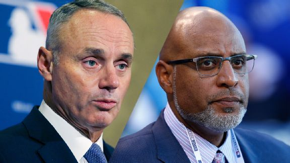 Rob Manfred and Tony Clark