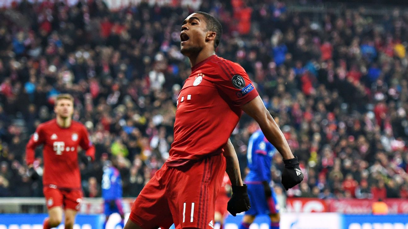 Douglas Costa got Bayern going early against Olympiakos with an eighth minute strike.
