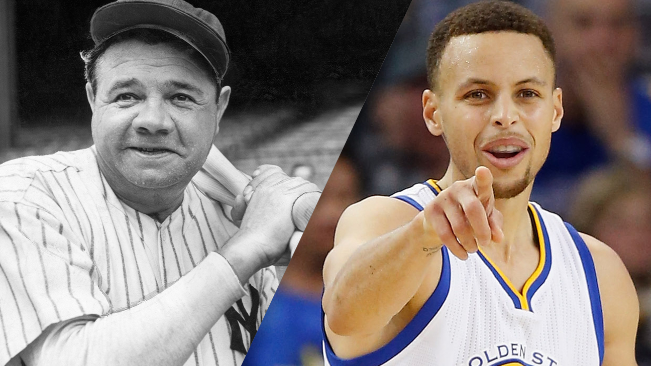 Babe Ruth and Stephen Curry