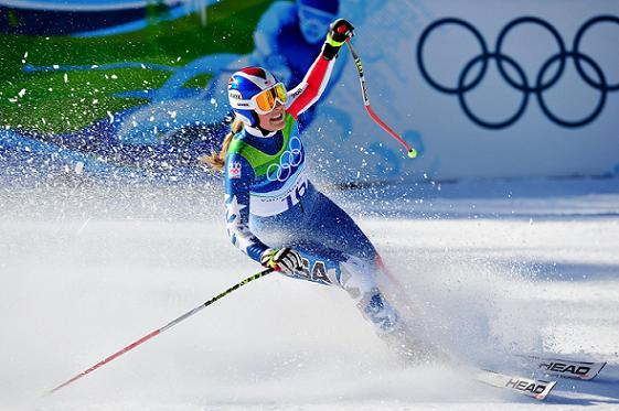 Lindsey Vonn Wins Olympic Downhill