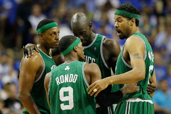 Paul Pierce, Kevin Garnett, Rasheed Wallace and Rajon Rondo