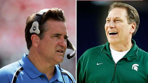 Steve Mariucci and Tom Izzo