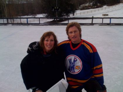 Linda with Denis Leary