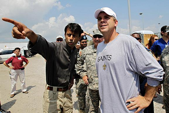 Gov. Bobby Jindal and Sean Payton