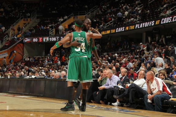 Paul Pierce with Kevin Garnett