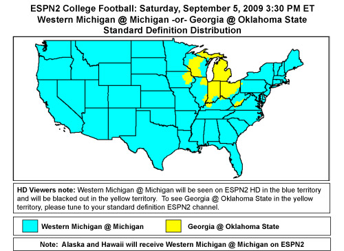 College Football Tv Maps - Hot Girls Wallpaper
