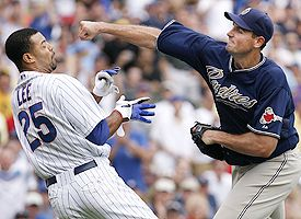 padres fight